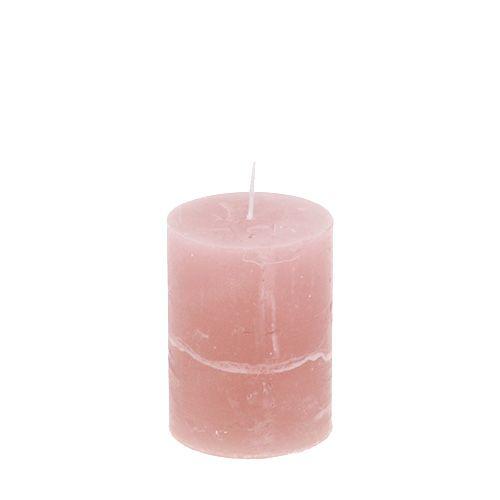 Kerze Altrosa 60mm x 80mm durchgefärbt 8St