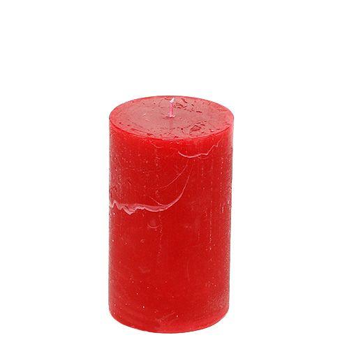 Kerze Rot 60mm x 100mm durchgefärbt 8St