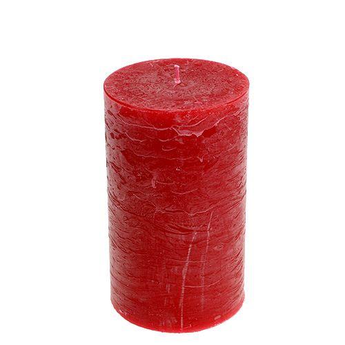 Kerze Rot 85mm x 150mm durchgefärbt 4St