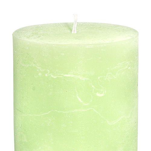 Kerze durchgefärbt Mint 85mm x 120mm 4St