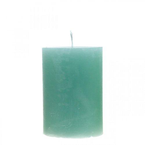 Stumpenkerzen durchgefärbt Grün 70×100mm 4St