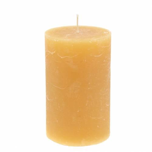 Durchgefärbte Kerzen Honigfarben 85×150mm 2St