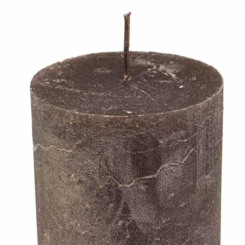 Durchgefärbte Kerzen Kupfer Metallic 50×100mm 4St