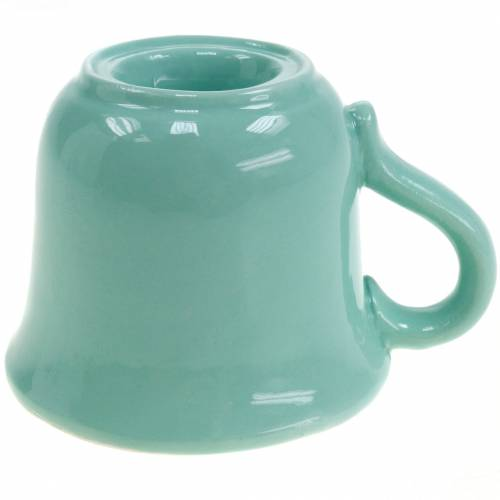 Kerzenhalter Tasse Ø7,5cm H6cm Grün 3St
