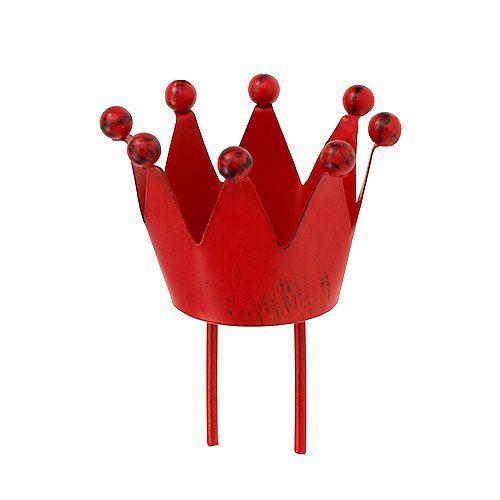 Kerzenhalter Krone Rot Ø4cm H5cm