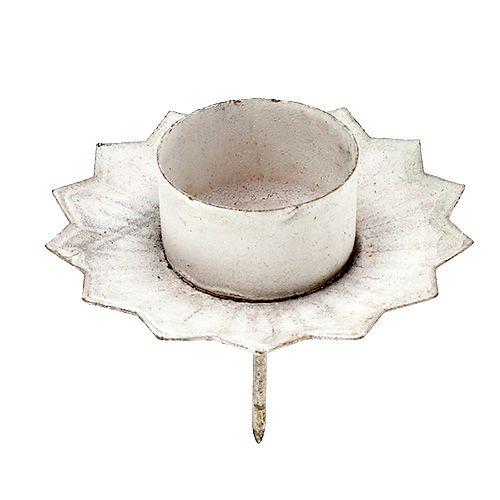 Kerzenhalter für Teelicht creme Ø9cm H9cm
