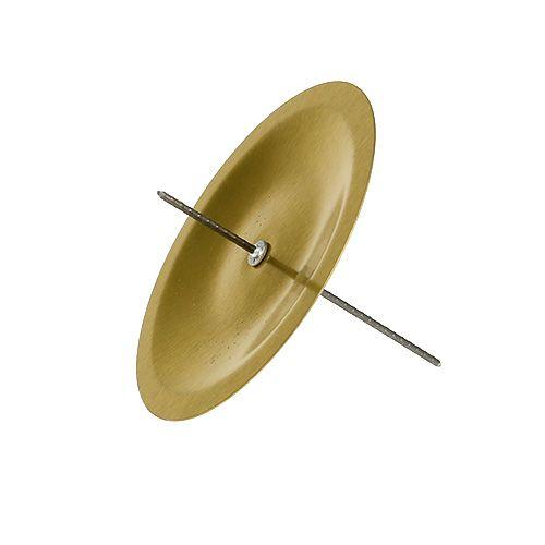 Kerzenhalter mit Dorn Gold Ø6cm 36St