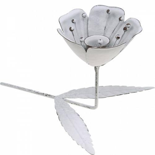 Frühlingsdekoration, Kerzenleuchter Blütenform, Hochzeitsdeko, Tischdeko aus Metall