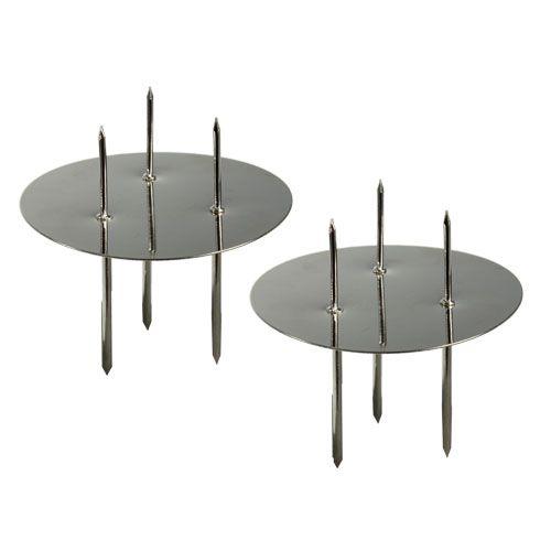 Kerzenhalter Silber Ø6cm 12St