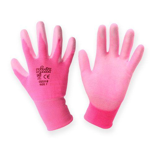 Kixx Gartenhandschuhe Gr.7 Rosa, Pink