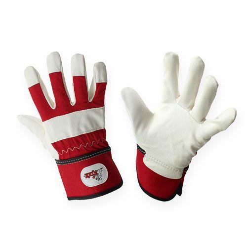 Kixx Kinderhandschuhe Gr.6 Rot, Weiß