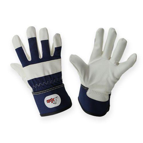 Kixx Kinderhandschuhe Gr.6 Blau, Weiß