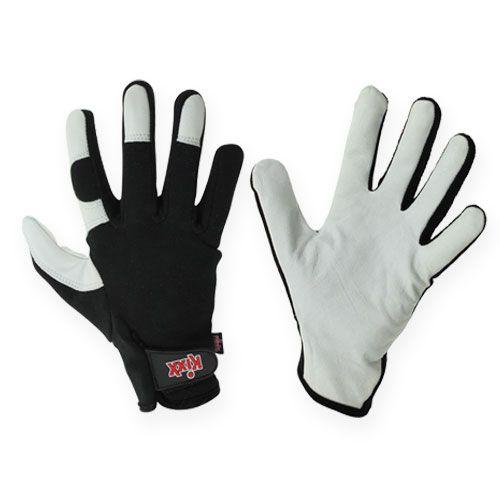 Kixx Lycra Handschuhe Gr.10 Schwarz, Hellgrau