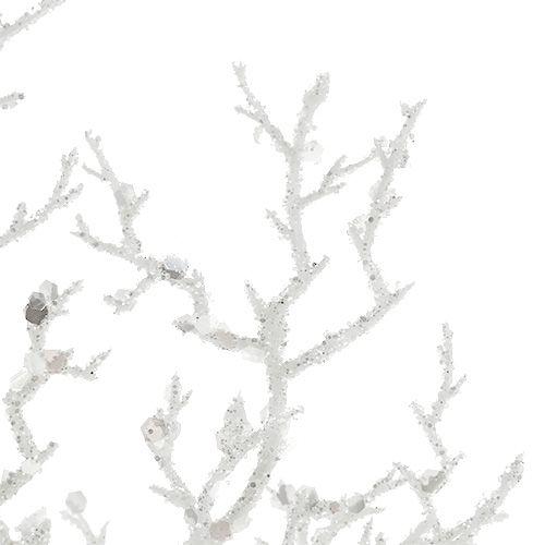 im Bund 36cm zum Basteln und die Floristik weiß braun Künstlicher Zweig 3 St