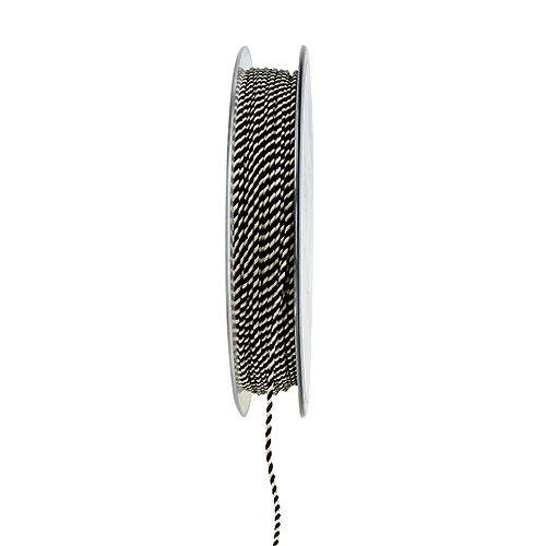 Kordel Braun-Weiß 1mm 25m