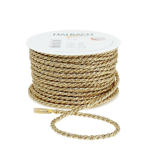 Kordelband Gold 4mm 25m