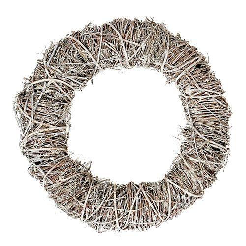 Kranz Zweige Ø35cm Weiß gefärbt