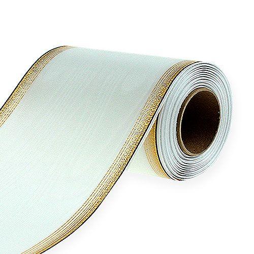 Kranzband Moiré 175mm, Weiß