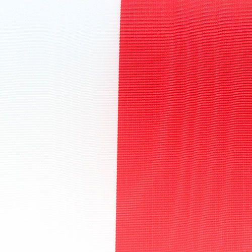 Kranzbänder Moiré Weiß-Rot 150 mm