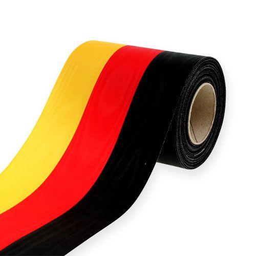 Kranzbänder Moiré schwarz-rot-gold 125 mm