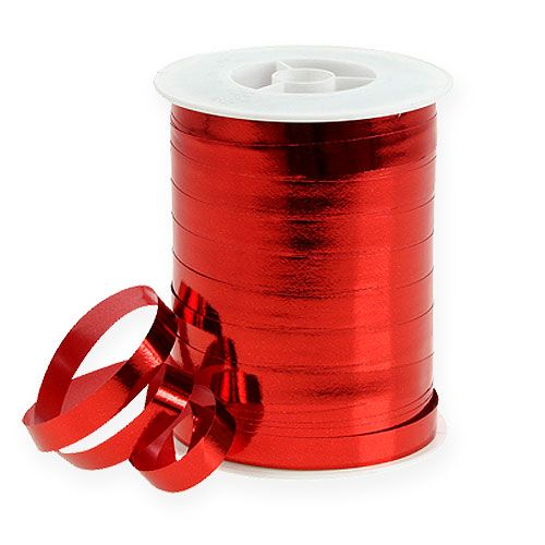 Kräuselband glänzend 10mm 250m Rot