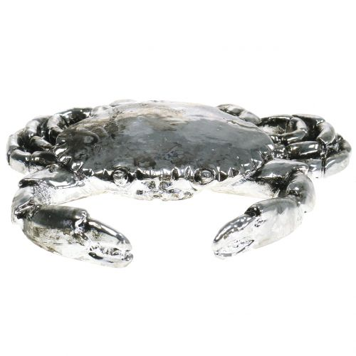 Deko Krebs Antik Silber 12cm