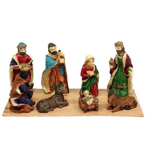 Krippenfiguren Set mit 8 Figuren