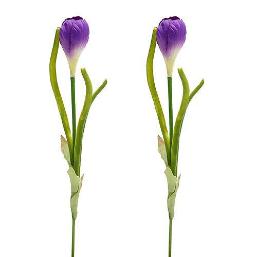 Krokus künstlich Hellviolett 26cm 6St