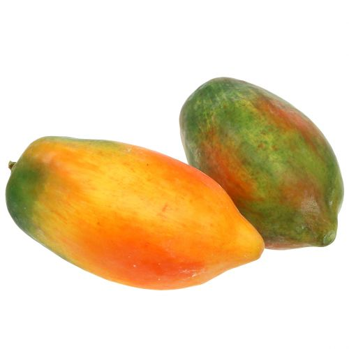 Künstliche Papaya 13cm und 14cm Gelb, Grün 2St