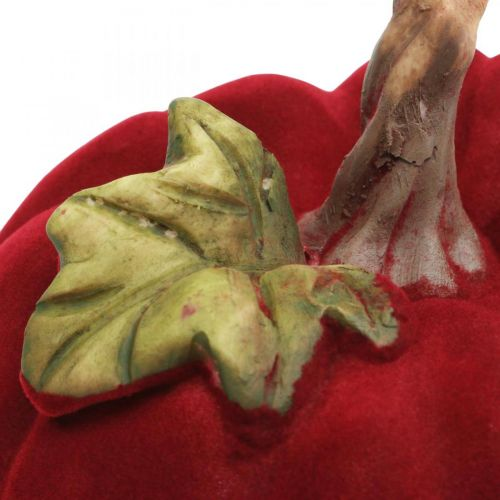 Deko Kürbis Rot Tischdeko Herbst Polyresin 10,5×9cm 2St