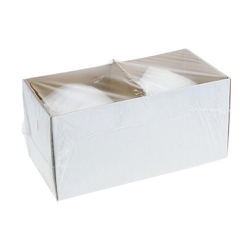 Kugelkerzen Ø100mm 2St Weiß Schneeball