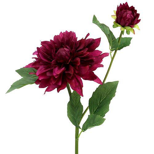 60 cm   Kunstblumen 1  x Chrysantheme schwarz Länge  ca Chrysanthemen