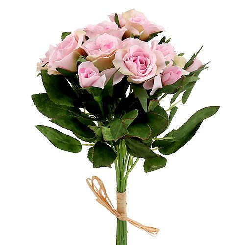 kunstblumen rosenstrau rosa l26cm 3st gro handel und. Black Bedroom Furniture Sets. Home Design Ideas