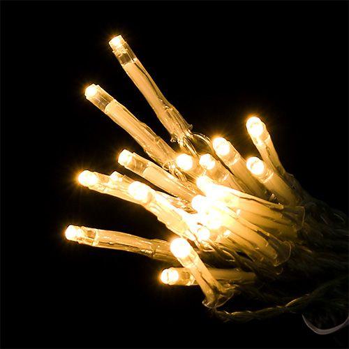 LED Lichterkette 20er 275cm mit Batterie Warmweiß