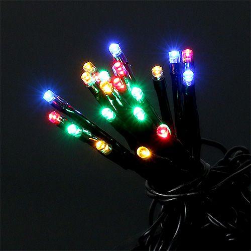 LED Lichterkette für außen 120er 9m bunt-schwarz