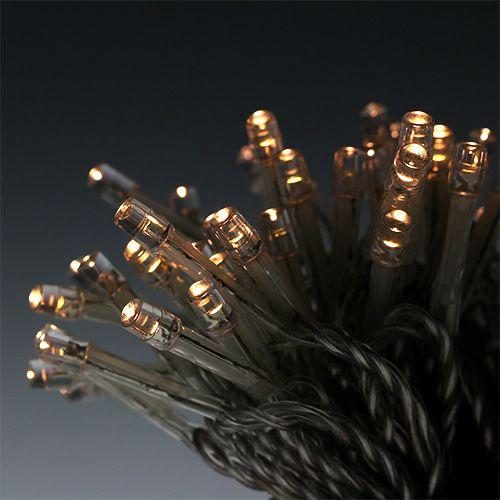 LED Batteriereislichterkette 240er 18,4m Warmweiß
