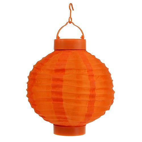 Lampion LED mit Solar 20cm Orange