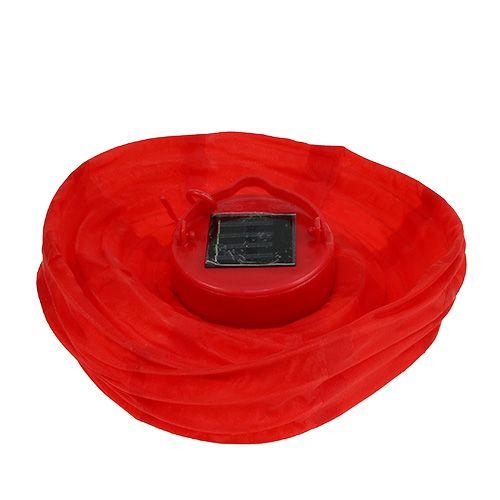 lampion led mit solar 20cm rot gro handel und lagerverkauf. Black Bedroom Furniture Sets. Home Design Ideas