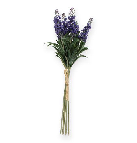 Lavendelbund mit Raffiabast 33cm 6St