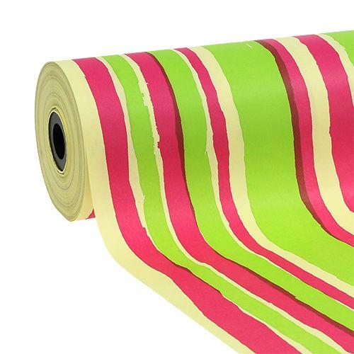 Manschettenpapier 25cm Streifen Muster 100m