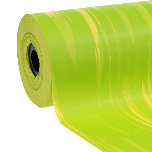 Manschettenpapier gestreift Maigrün, Gelb 25cm 100m