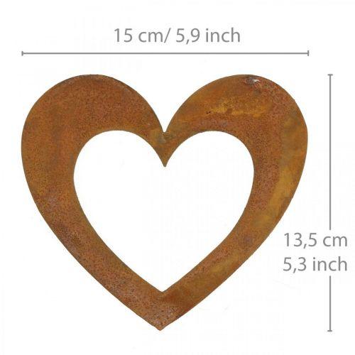 Herz Rost Deko-Herz Garten Metall 15cm 6St