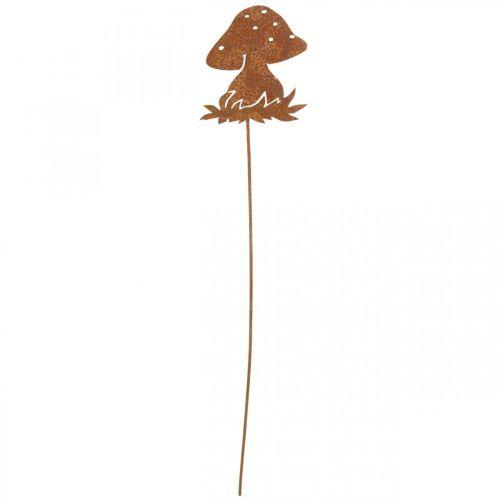 Metallstecker Fliegenpilz Herbstdeko Pilzdeko Edelrost 42cm