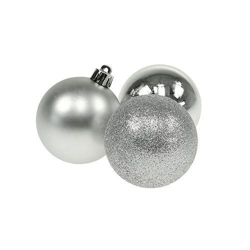Mini Weihnachtskugel Silber Ø3cm 15St