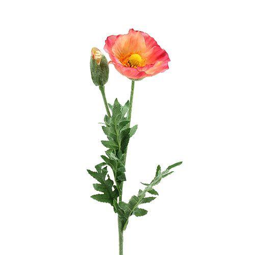 Künstliche Mohn mit Rosa, Gelb Blume 75cm