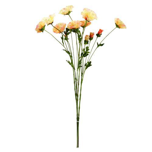Mohnblumen gelb orange 68cm 3St