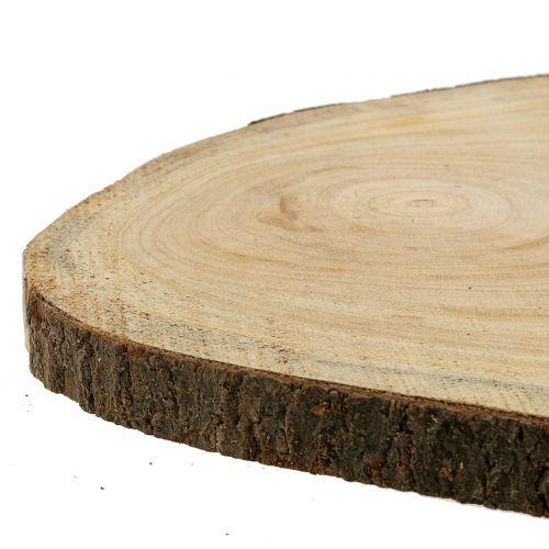 Baumscheibe Blauglockenbaum Natur Ø35–45cm