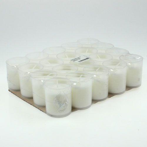 Nachfüllkerze für Grablicht Weiß H5,8cm 20St