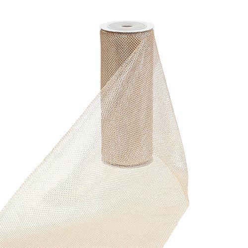 Netzstoff Champagner mit Glitzer 15cm 5m