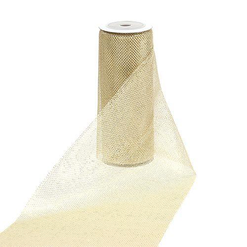 Netzstoff Gold mit Glitzer 15cm 5m